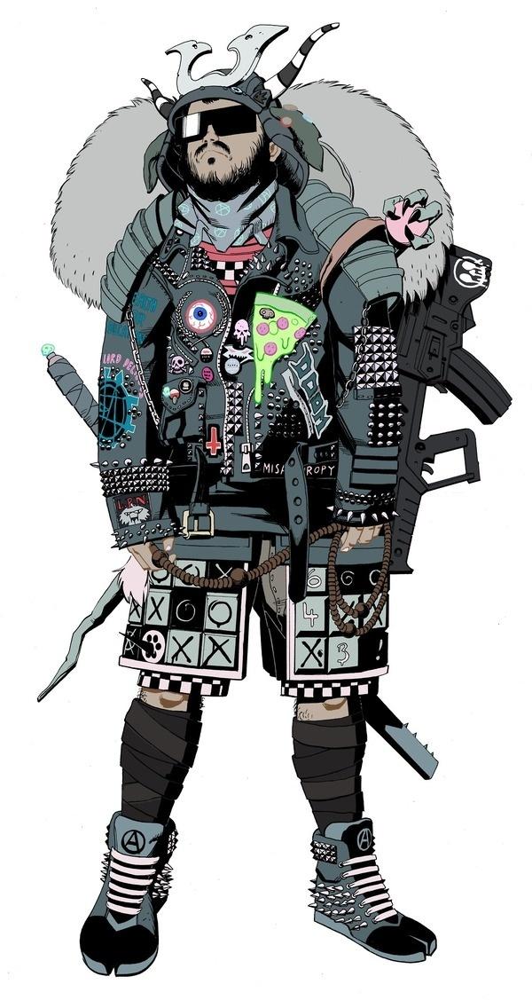 James Harvey: Photo #samurai #james #punk #harvey