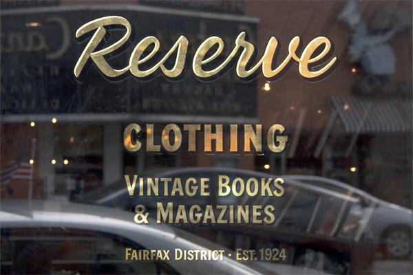 Reserve #logotype #leaf #downer #done #glass #reserve #john #gold #hand