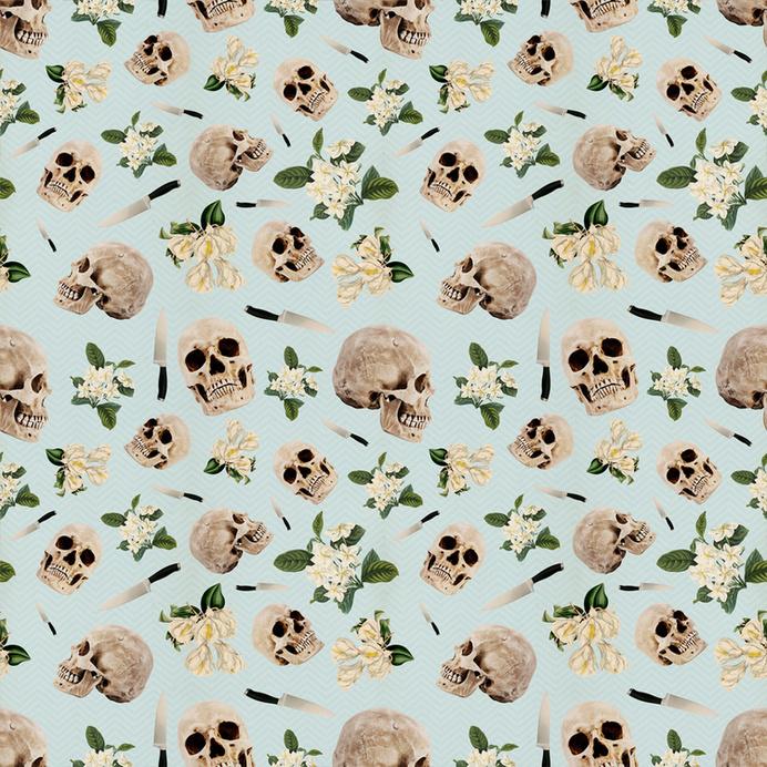 #pattern #skull #floral #pastel #repeat