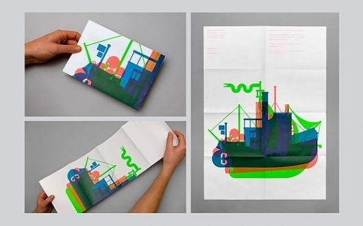 Illustration / Maddison Graphic: Christmas Card 2010 / Collate #illustration #colour