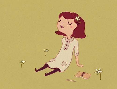 The Creative Brainwaves of Anneka Tran: Illustration #lawn #creative #girl #illustration #brainwaves #tran #anneka