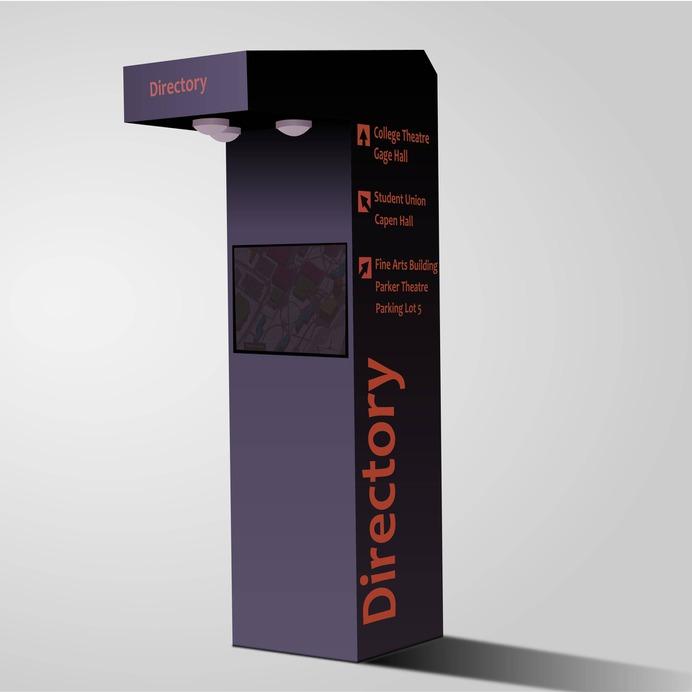 Wayfinding | Signage | Sign | Design | 小区商城导视柱