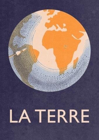 Double Merrick — La Terre - A3 (8.3 × 11.7 inches) Giclee print #earth #print #design #poster