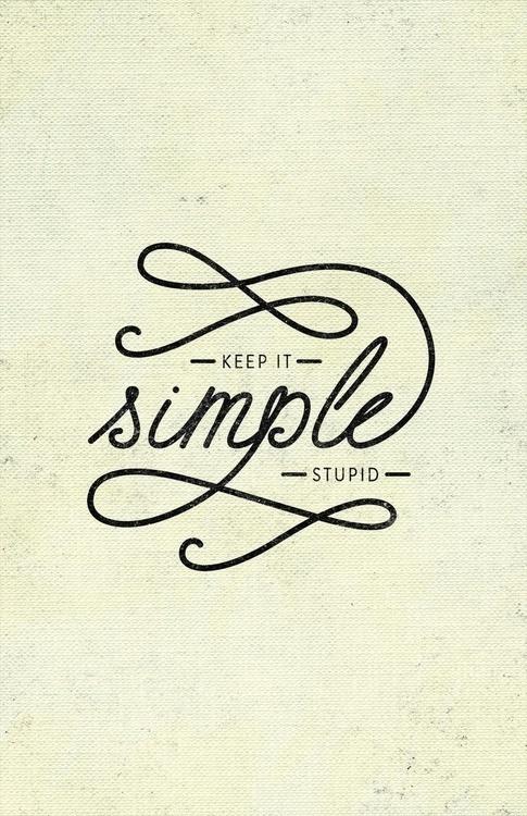 Keep it simple - Melissa Turi Lettering #simple #typography