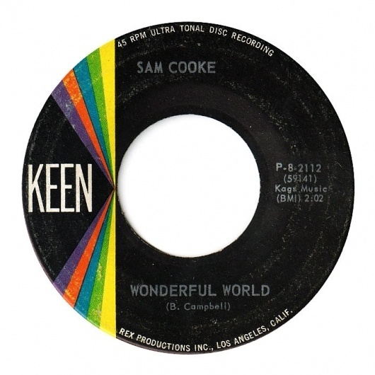 Center Of Attention   The Art Of Record Center Labels   Sam Cooke – Wonderful World #record #type #center