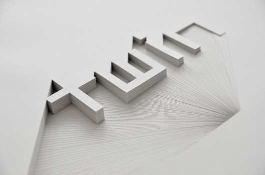 Creative Review - Bianca Chang's choice cuts #craft #paper #typography