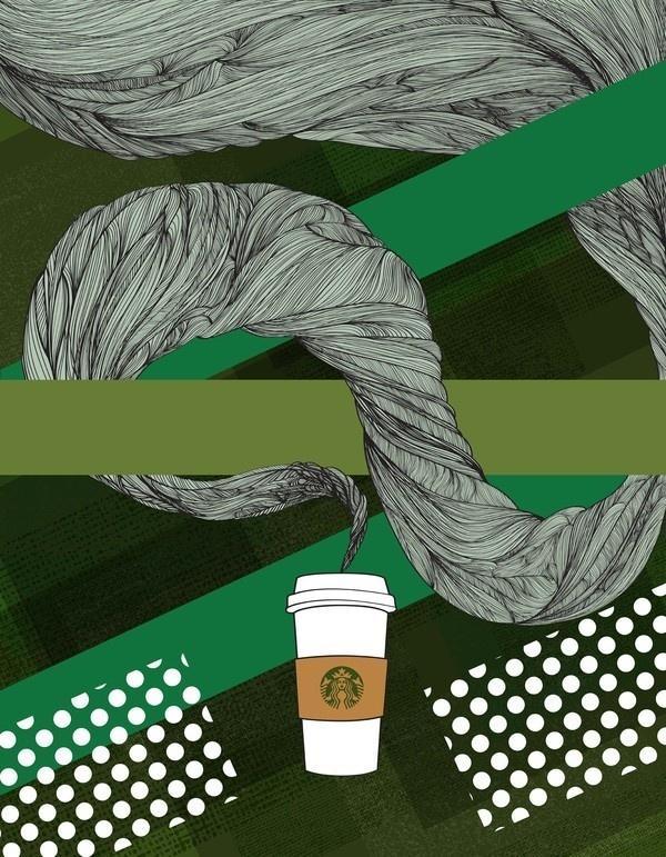 Starbucks Illustration #illustration #design #graphic