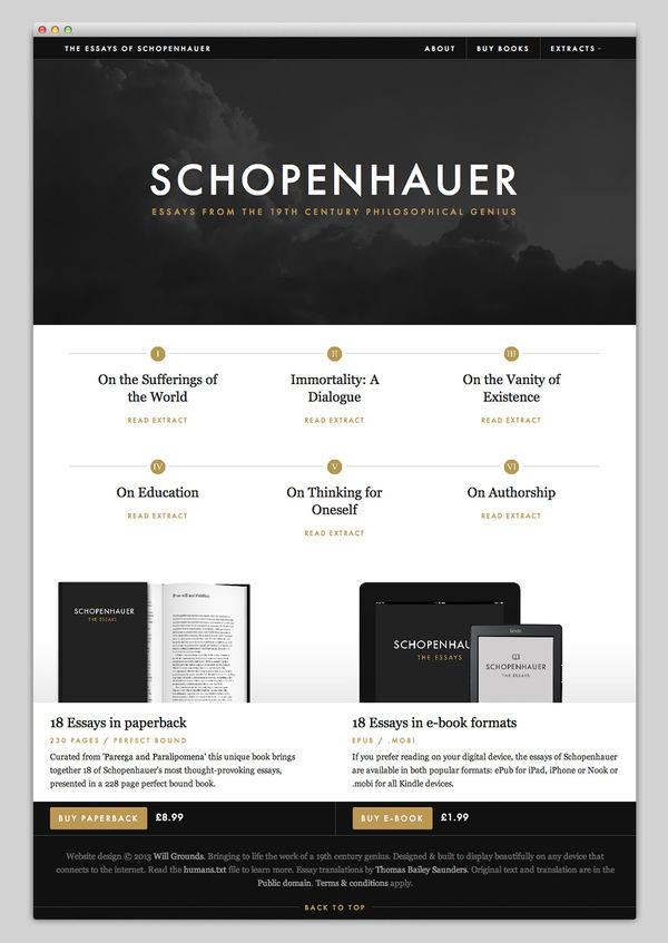 Essays of Schopenhauer #website #layout #design #web
