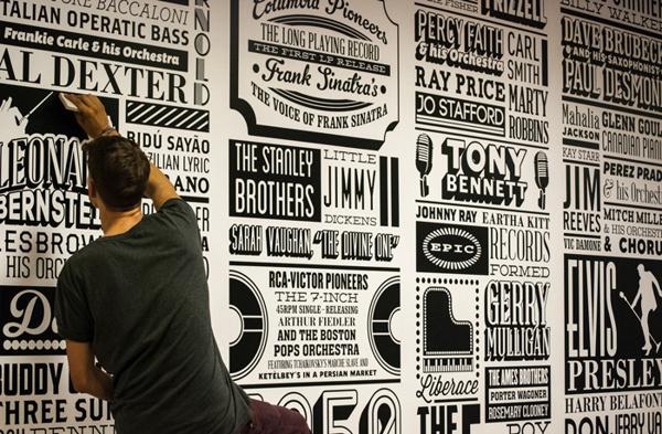 Alex Fowkes – Sony Music Timeline – Creativitea #creative #lettering #timeline #type #typography