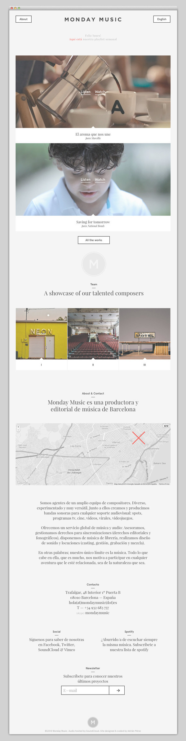 Monday Music #website #layout #design #web