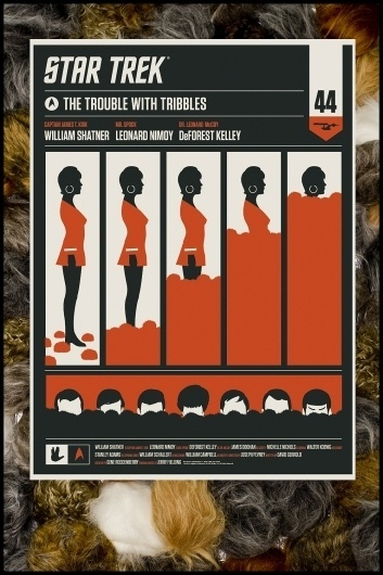Star Trek: The Trouble With Tribbles On Sale Now! « Mondo: The Blog #design #graphic