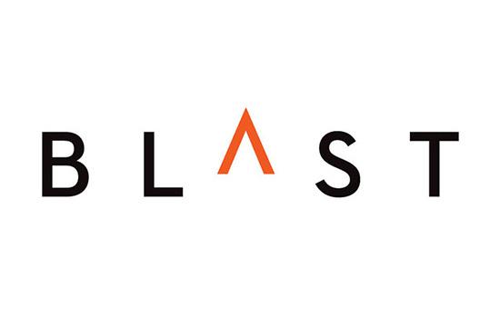 Blast PR logo designed by Pentagram (2012) #logo #design