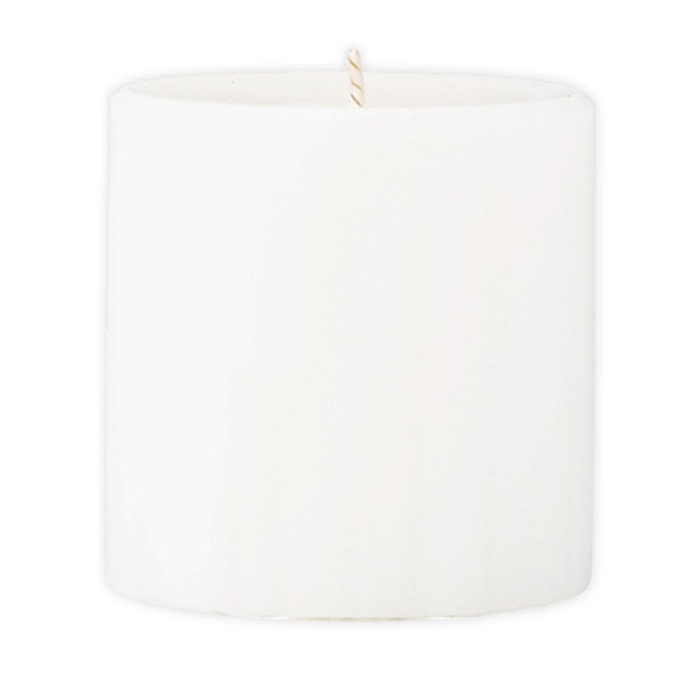 Marbled Pillar Fresh Cotton & Lavender Scented Candle, 7 x 7 cm