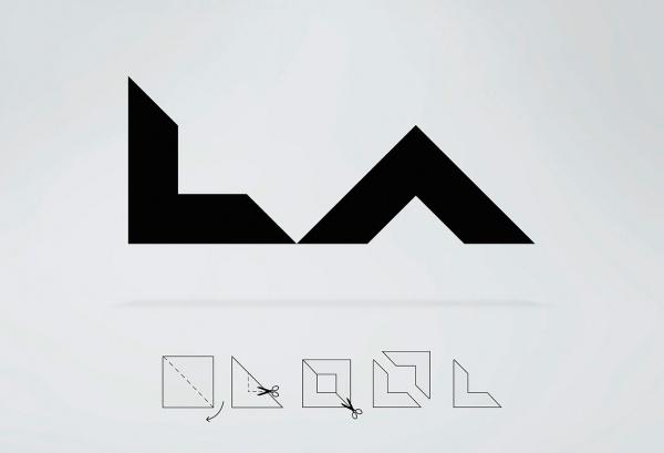 LA Identity » Squint/Opera #fold #trace #square #origami #logo