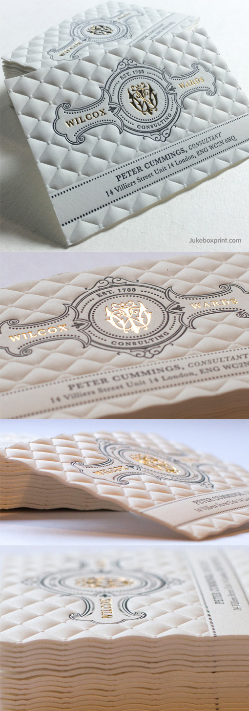 Invitation, letterpress, fancy, texture