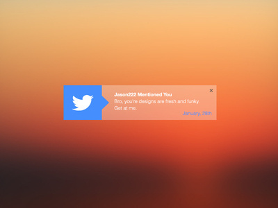 Twitter Notification :: Rebound #modern #design #clean #ui #twitter #notification