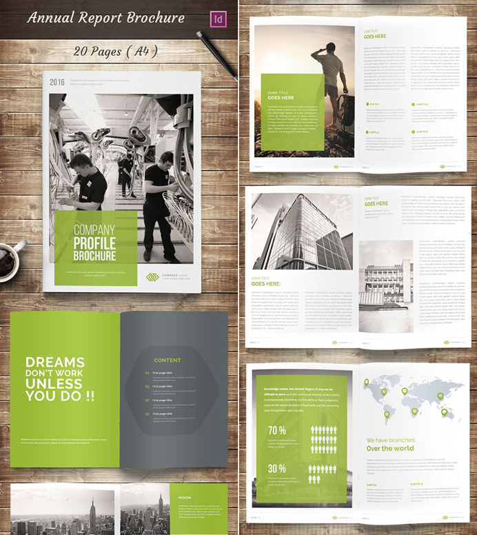 Best Booklets Reports Inspiration Annual-report-indesign-brochure