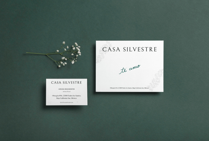 """Brand Identity for Casa Silvestre by Basic Studio """"Surrounded by the balmy desert and endless ocean, Casa Silvestre rises in enchanting Ba"""