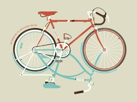grain edit · DKNG Studios #print #design #screen #bike #poster