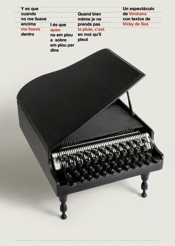 Carteles : Isidro Ferrer #ferrer #huesca #spain #piano #isidro #poster #show #typewriter