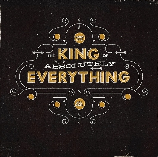King Type #radio #typography #custom