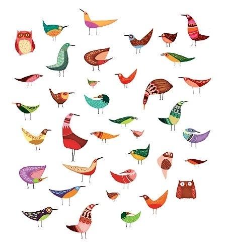 FFFFOUND! | birdies.jpg (image) #illustration