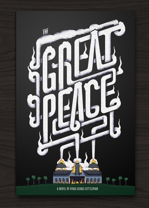Typeverything.com - THE GREAT PEACE (via The Black... - Typeverything #lettering #book #cover #type #typography