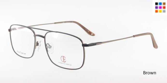 Brown CIE SEC303T Eyeglasses.