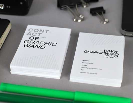 Self-promotion - graphicwand #business #graphicwand #card #design #graphic #corporate #identity #typography