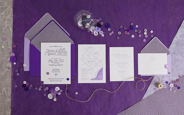 Purple wedding #invite #print #wedding