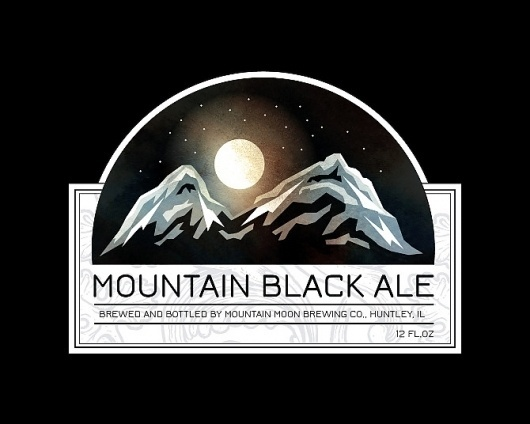 Solo 71 | The art of Dave Behm #beer #vector #packaging #black #label #mountains #moon