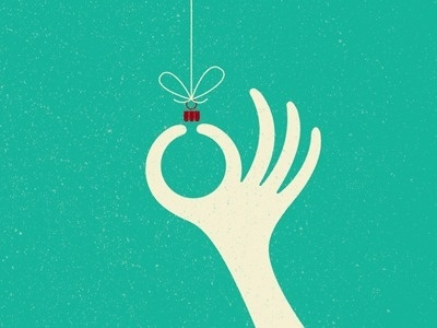 Dribbble - Happy Holidays by Dustin Wallace #illustration #hands