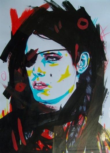 Marker Portraits by Mr Frivolous | Abduzeedo | Graphic Design Inspiration and Photoshop Tutorials #illustration #portrait #color #marker