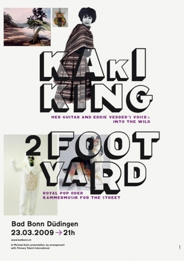 kaki king & 2 foot yard #poster