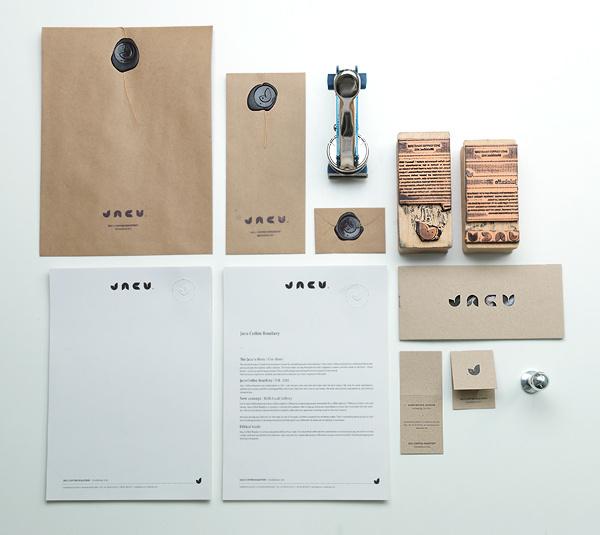 Jacu Coffee Cafe Branding #cafe #kraft #vintage #branding