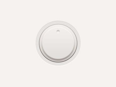 Dribbble - Milky Volume by Matias Gallipoli #controller #knob #white
