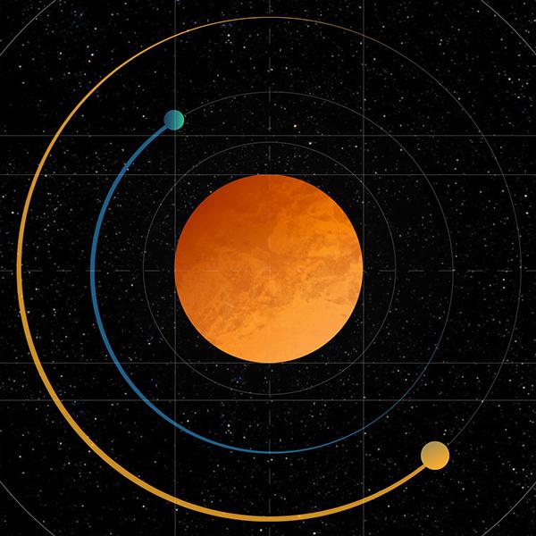 Orbit #astronomy #space #orbit #planet #spacetime #graphic #graphic design #illustration #minimal