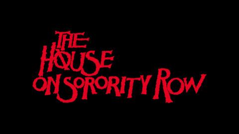 The house on Sorority Row 1983 movie poster typography #movie #80s #typography