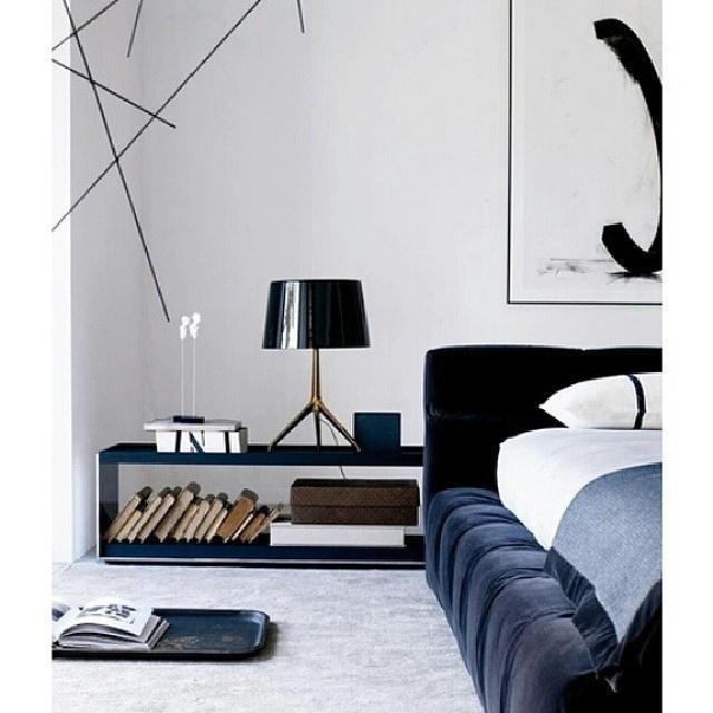 Bedroom #interior #bedroom #design #bedframe #velvet