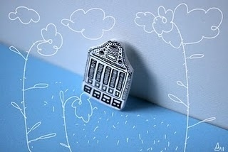 MADALINA ANDRONIC: RANDOM #1st #of #march #illustration #brooches #houses #miniature