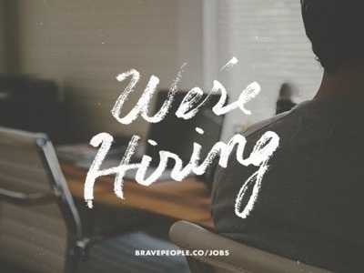 We're Hiring! #hand lettering