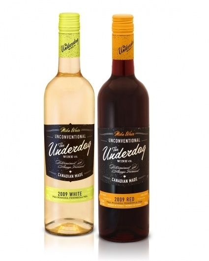 lovely-package-mike-weir-underdog1.jpg 1200×1493 pixels #packaging #wine #bottle