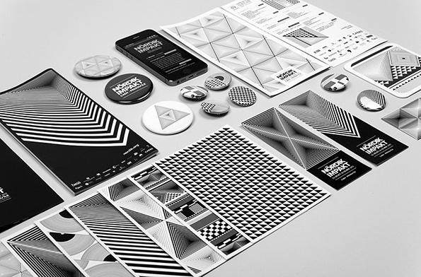 Graphic Design: French studio Murmure's amazing geometric festival identity #white #nordic #black #murmure #triangle #and