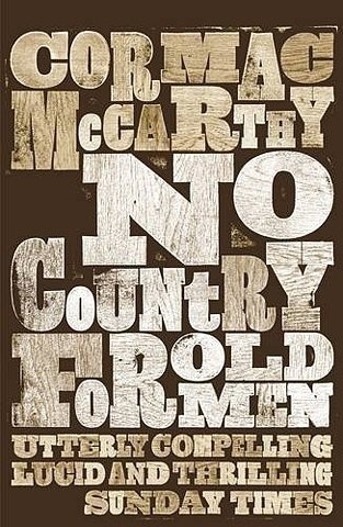 The Book Cover Archive: No Country For Old Men, design by David Pearson #letterpress #typography