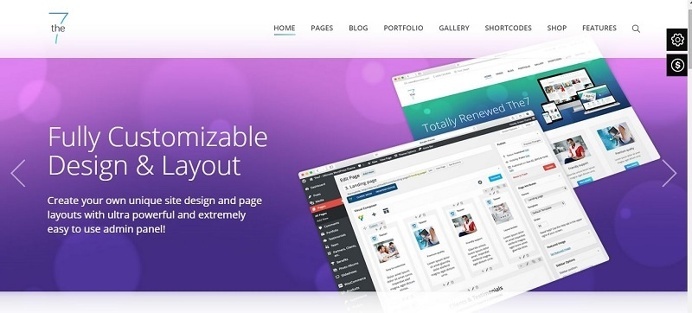 7 Responsive Multi Purpose theme that is SEO ready