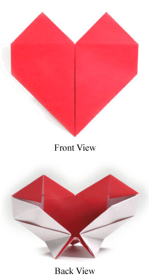 How to make an origami heart with a stand II (http://www.origami-make.org/howto-origami-heart.php)