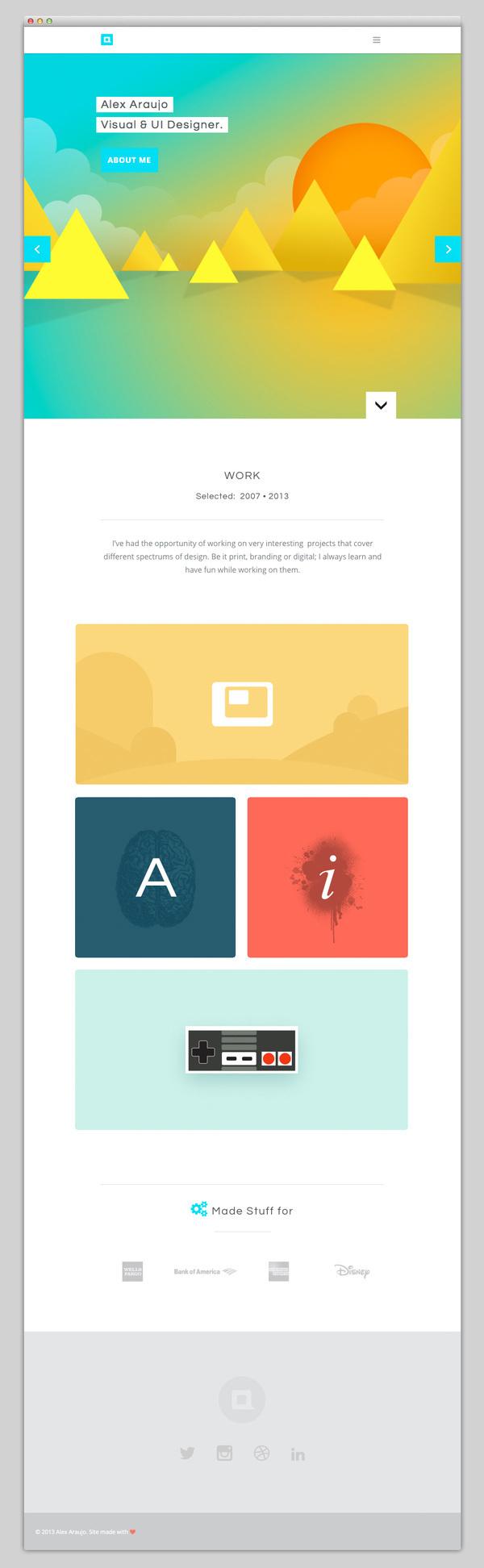Alex Araujo #website #layout #design #web