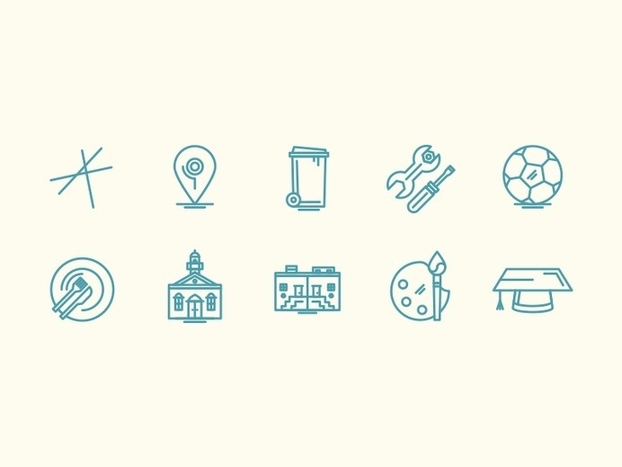 Editorial Line Icons #pictogram #icon #sign #picto #symbol