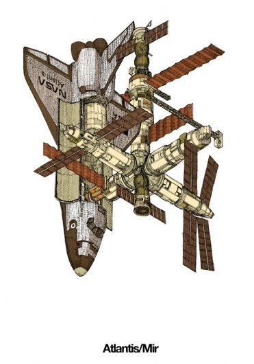 Evan Wakelin's drawings and stuff #shuttle #atlantis #nasa #mir #space #station