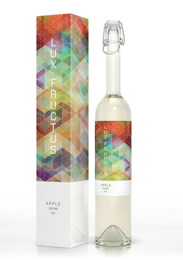 CUBEN Space / Lux Fructus: Fruit Wine Packaging on Behance #graphic design #packaging #bottle design